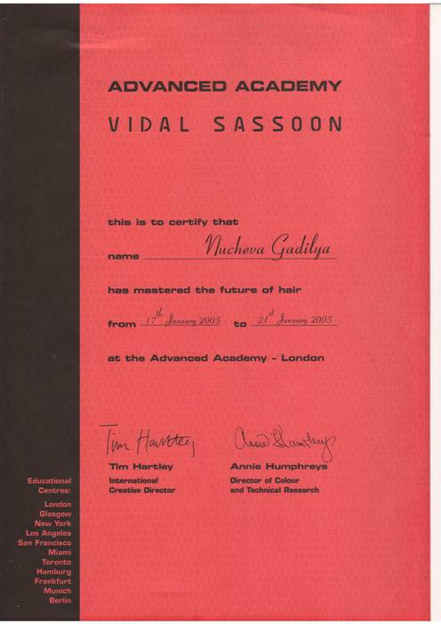 VIDAL SASSOON 2005